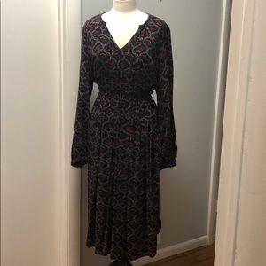 Hinge Midi Light Dress in beautiful fall colors